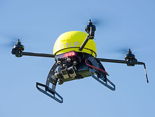 RDASS Quadcopter with strobe and GoPro camera
